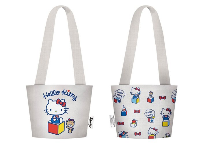 Hello Kitty萌萌環保飲料提袋,全家便利商店9月11日至10月8日購買指...