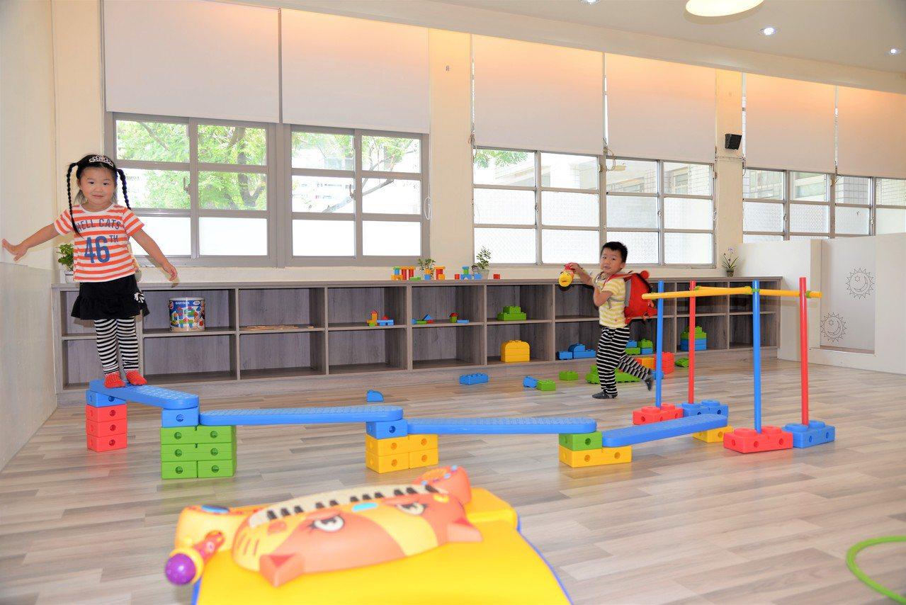 公托家園小朋友的設施完善,空間明亮且又安全。記者蔡維斌/攝影