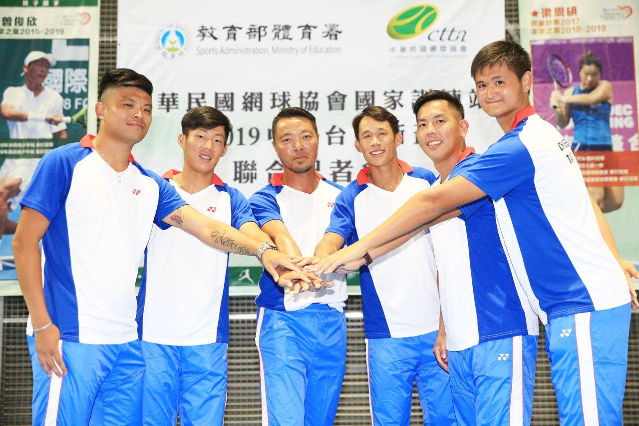 台維斯盃中華隊對香港前3點皆贏提前拿下勝利,並取得明年3月台維斯盃世界組一級升降...