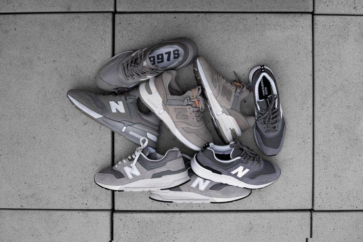 New Balance在秋冬推出多雙經典灰色鞋款。圖/New Balance提供