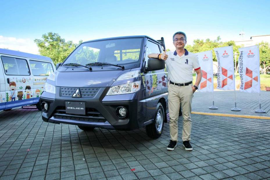 中華三菱得利卡在台灣商用車中算是長青樹車款,今天推出新世代得利卡DELICA新增自排車型,中華車總經理陳昭文看好新車銷售。公司提供