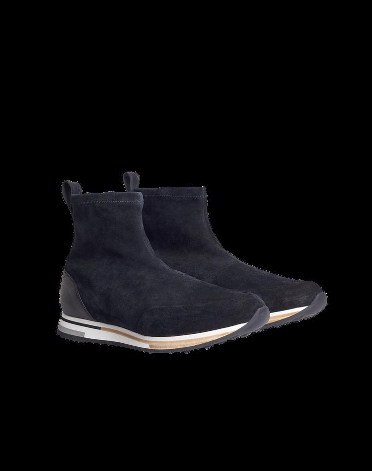 dunhill秋冬Duke系列高筒麂皮運動鞋,28,500元。圖/dunhill...