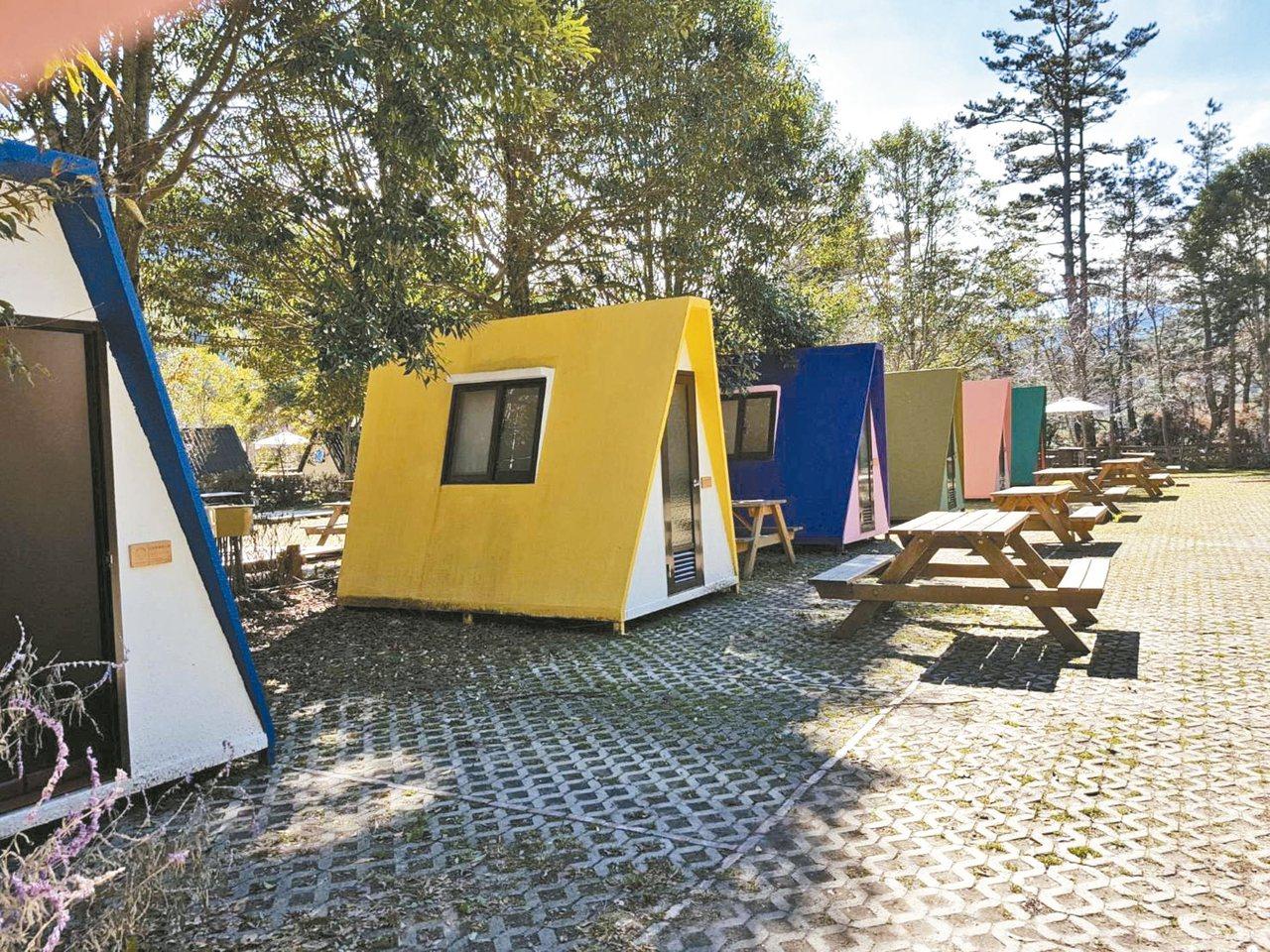 武陵農場露營區有分為露營位及露營屋。 圖/摘自武陵農場粉絲專頁