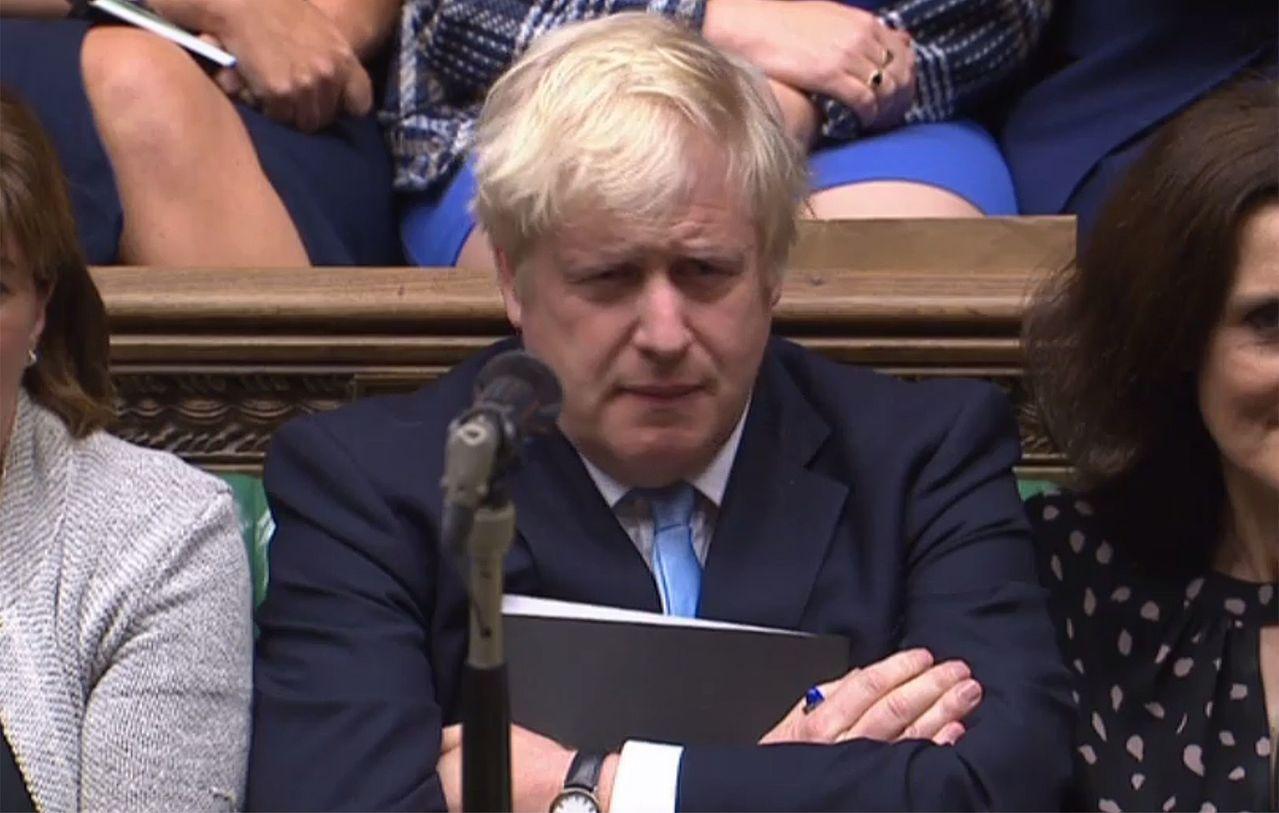 英國首相強生九日聽取在野黨對他的提前大選動議發表意見,這項動議後來遭否決。 (法...