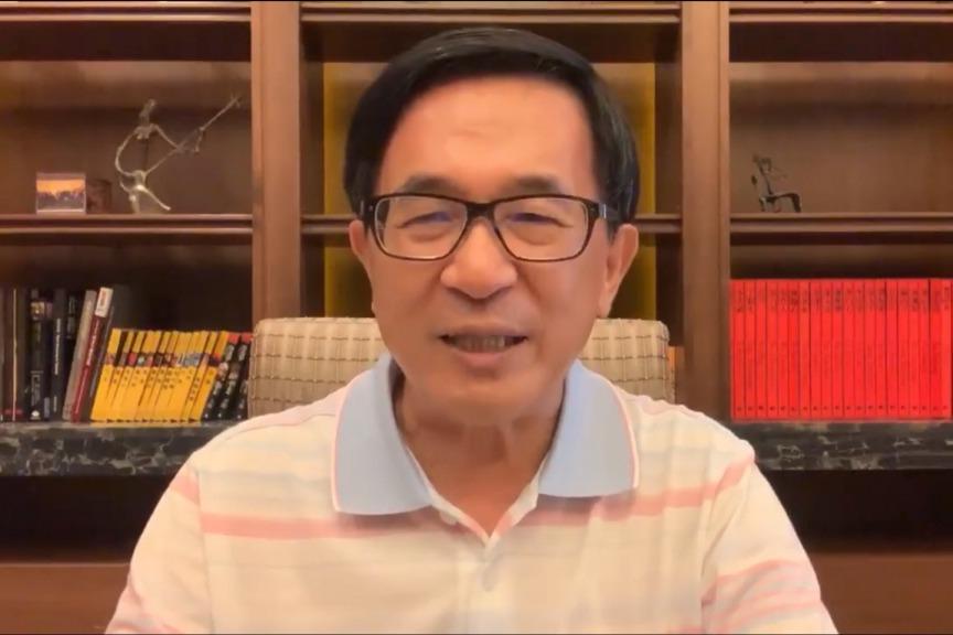 前總統陳水扁持續評論時事,他11日透過群組指出,民進黨不可能「蔡賴配」,賴揆也不...