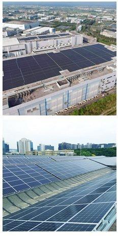 聚恆科技2018年完工的群創光電(5546.1kWp,上圖)及台元紡織(19...