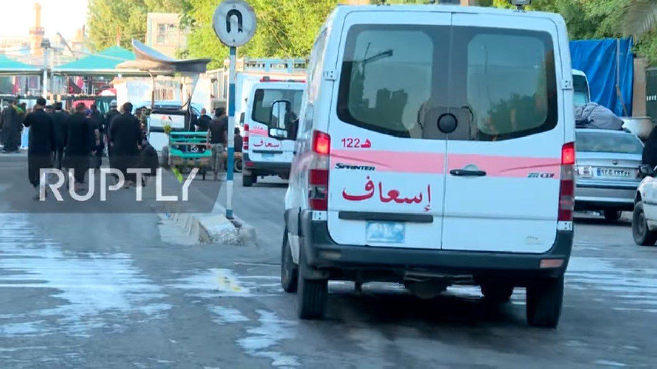 伊拉克阿舒拉節發生近來最致命的踩踏意外。 圖擷自Ruptly