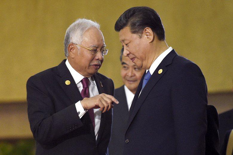 前馬來西亞總理納吉布擔任總理時,大馬國有投資基金(1MDB)6.81億美元被轉入其帳戶。 圖/美聯社