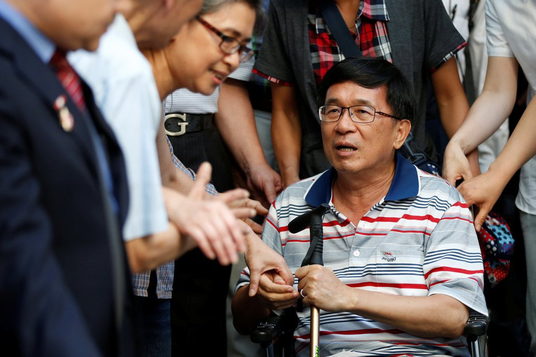 保外就醫的前總統陳水扁,攝於2016年6月4日。 圖/路透社
