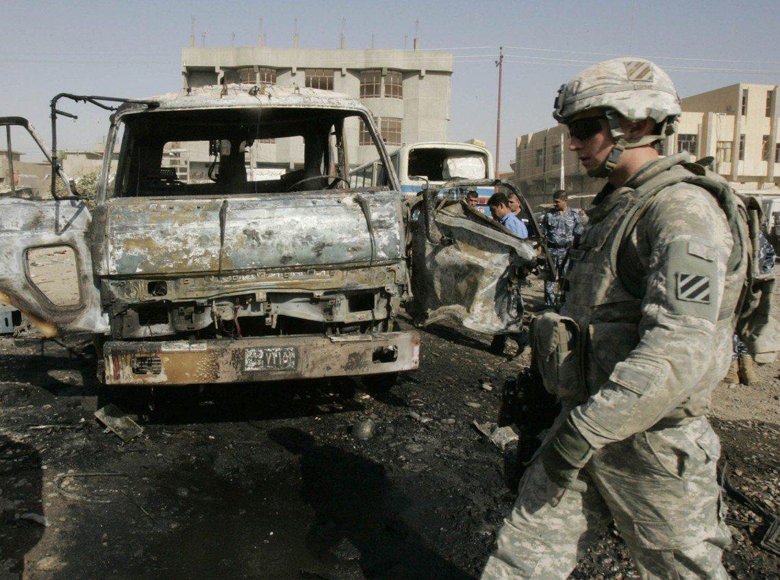 圖為在伊拉克的美軍。 圖/路透社