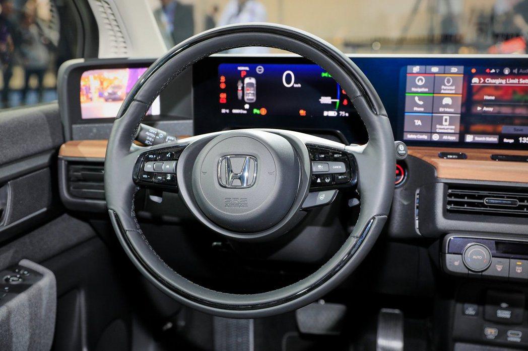 Honda e方向盤上附有快捷鍵方便駕駛使用。 摘自Honda