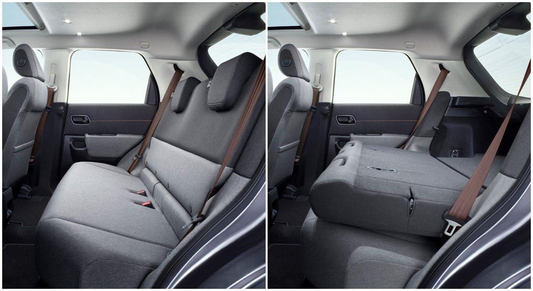 Honda e後排座椅可傾倒。 摘自Honda