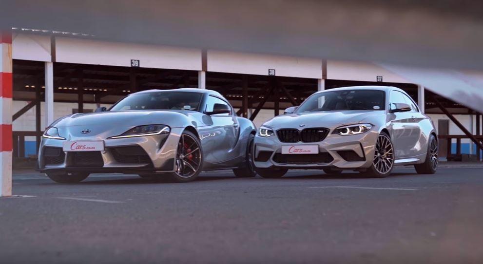 Toyota Supra和BMW M2 Competition。 截圖自Cars...