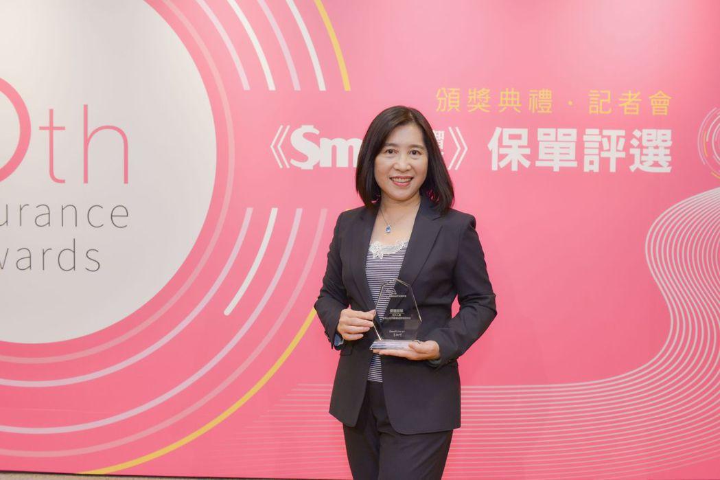 元大人壽榮獲「Smart推薦優質保單」殊榮,由總經理林則棻代表出席領獎。