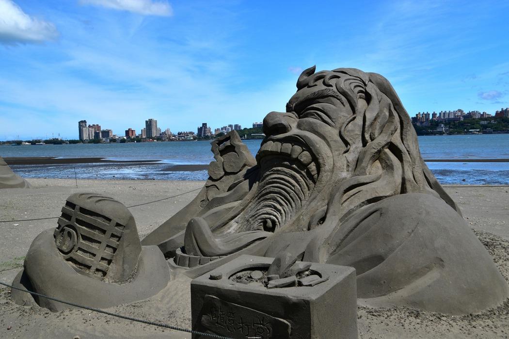 台北八里左岸/城市沙雕藝術展,不必遠赴福隆!