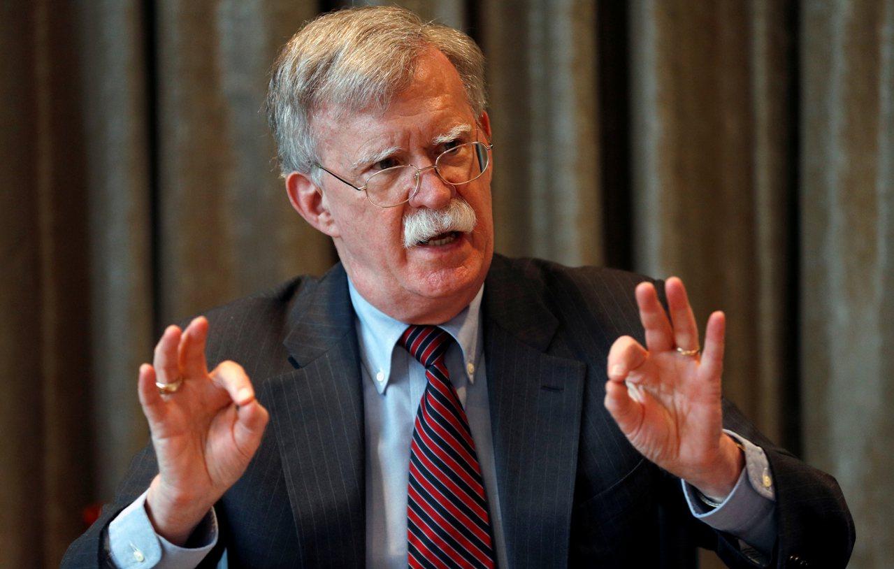 美國國家安全顧問波頓(John Bolton)。 路透社資料照片
