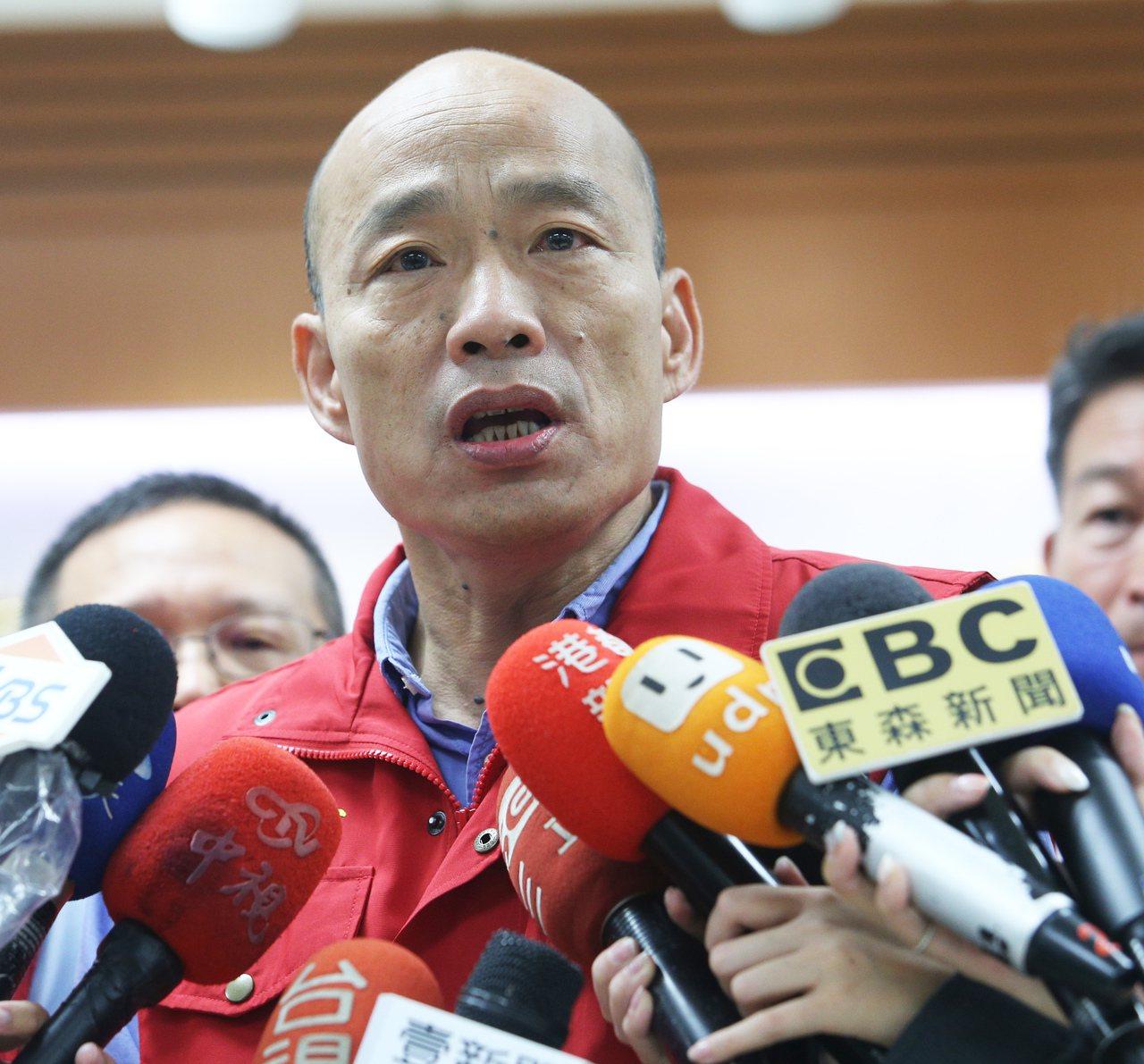 高雄市長韓國瑜今天凌晨以「永遠的後悔」來談國民黨在過去兩次的台北市市長選舉,同時...