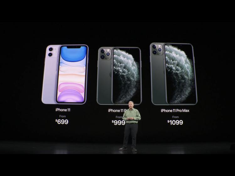 最新的iPhone11即將上市,各國售價也以公布在貧果官網。圖/發表會截圖