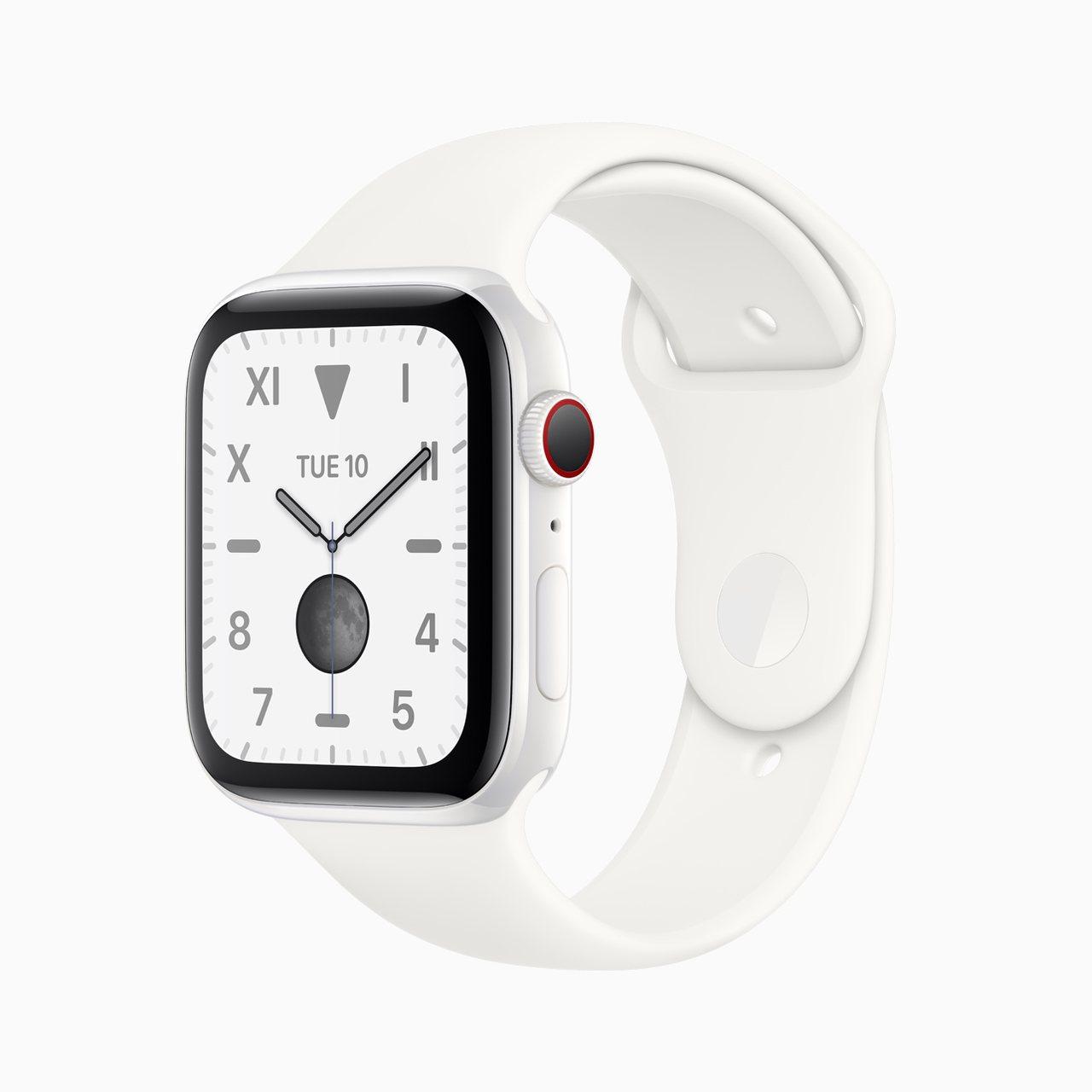 Apple Watch Series 5再重新推出了精密陶瓷材質款式。圖/蘋果提...