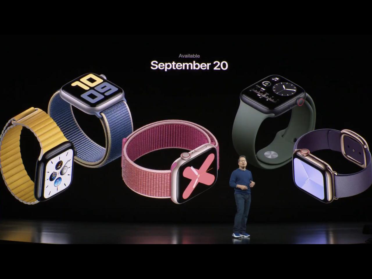 蘋果於秋季發表會中推出Apple Watch Series 5,預計9月20日起...