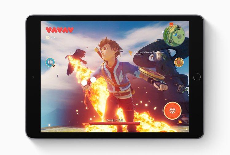 大螢幕iPad搭配即將推出的Apple Arcade,讓遊戲體驗更升級。圖/蘋果...