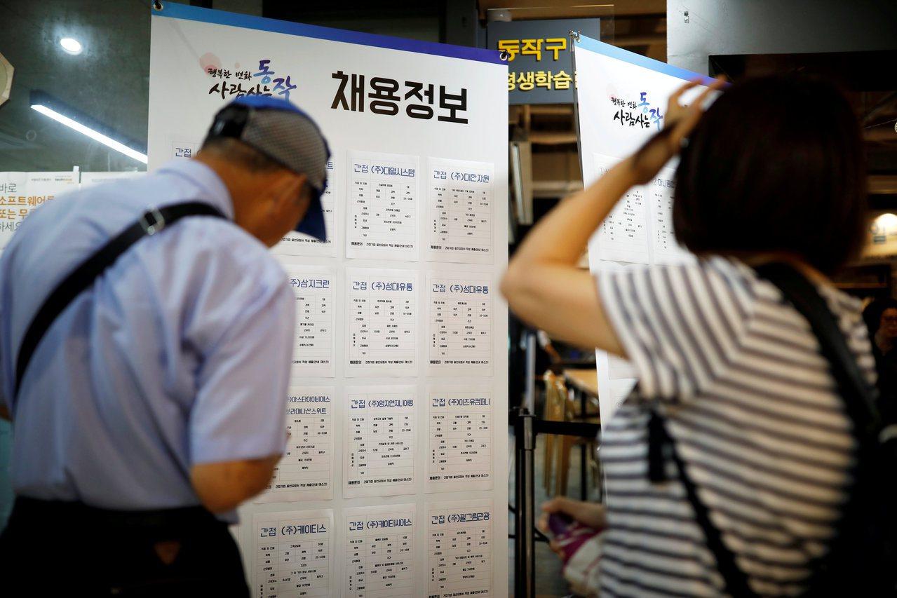 南韓政府增加預算提振就業,8月失業率降至六年低點。 路透
