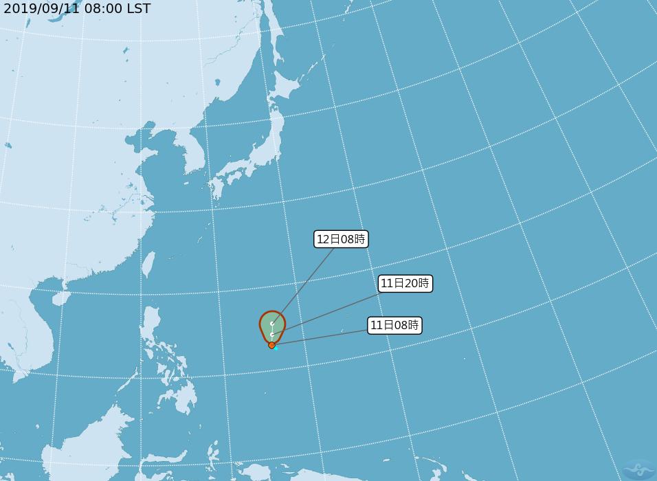 菲律賓東方的熱帶擾動,在今天凌晨已經增強為熱帶性低氣壓。圖/取自氣象局網站