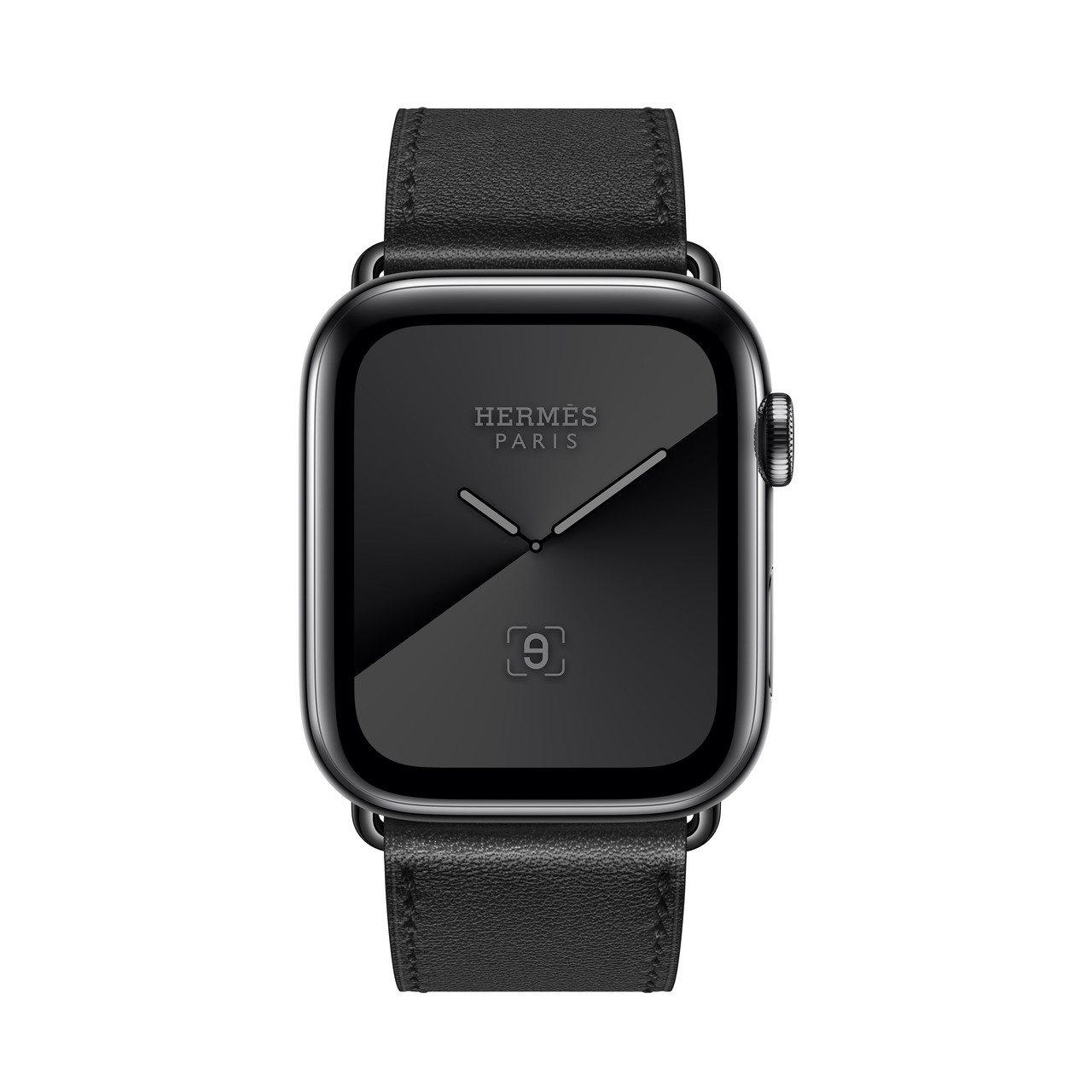 第五代Apple Watch Hermès系列44毫米表殼純黑單圈Swift小牛...