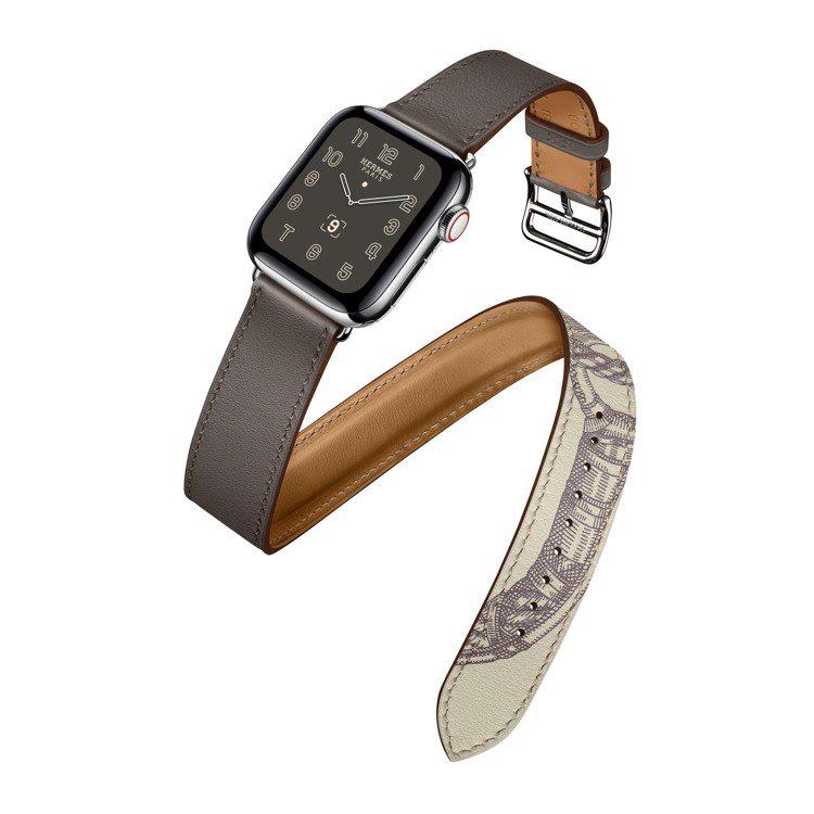 第五代Apple Watch Hermès系列40毫米表殼錫器灰與Della C...