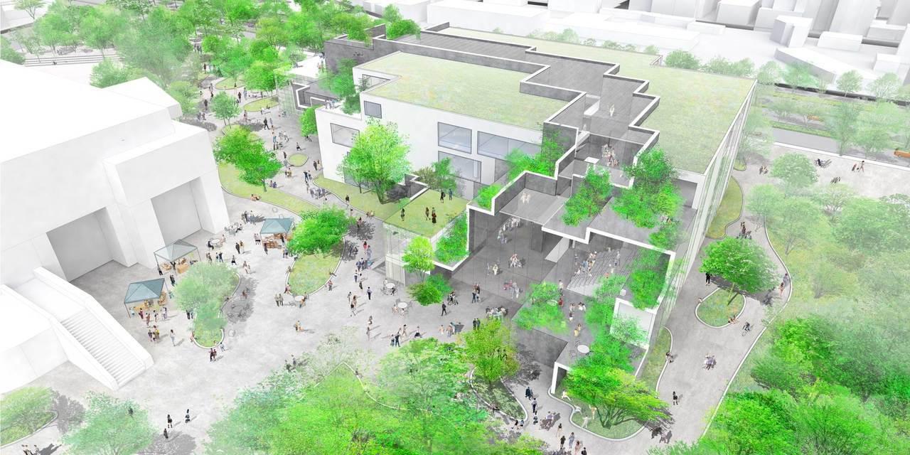 新竹市圖書館新總館,將打造成引入風與光影的「知識峽谷」,建築採引入自然光、採環境...