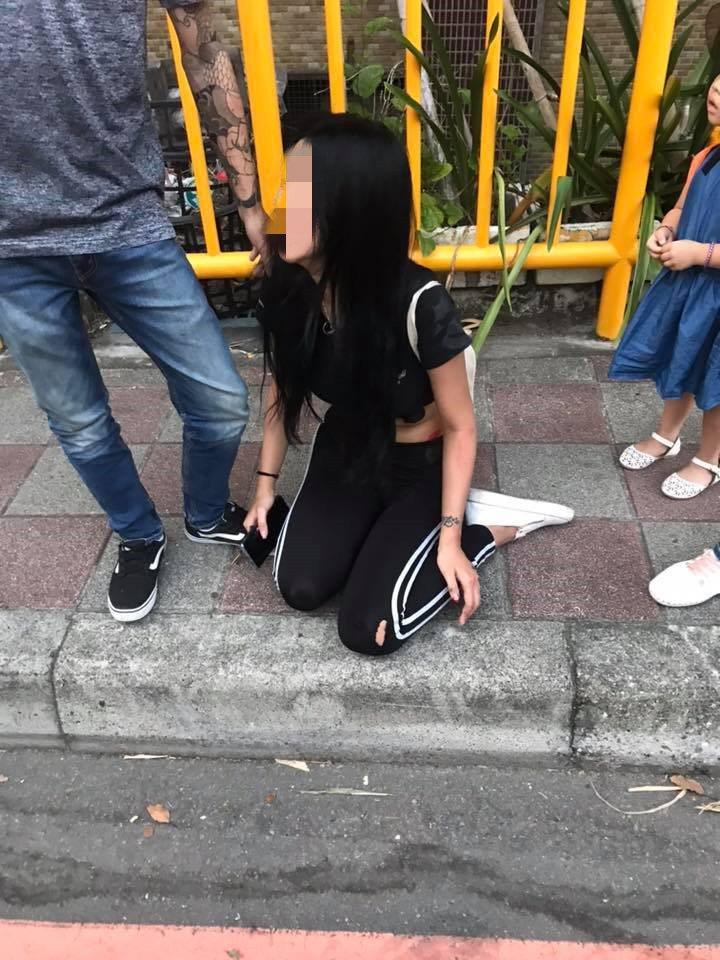 蔡女全身多處擦挫傷,經送醫包紮後暫無大礙。記者柯毓庭/翻攝自臉書