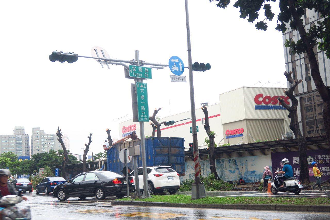 愛樹團體指控,義大集團正在興建的大型購物中心「義想天地」,在高雄大順路上移除9株...