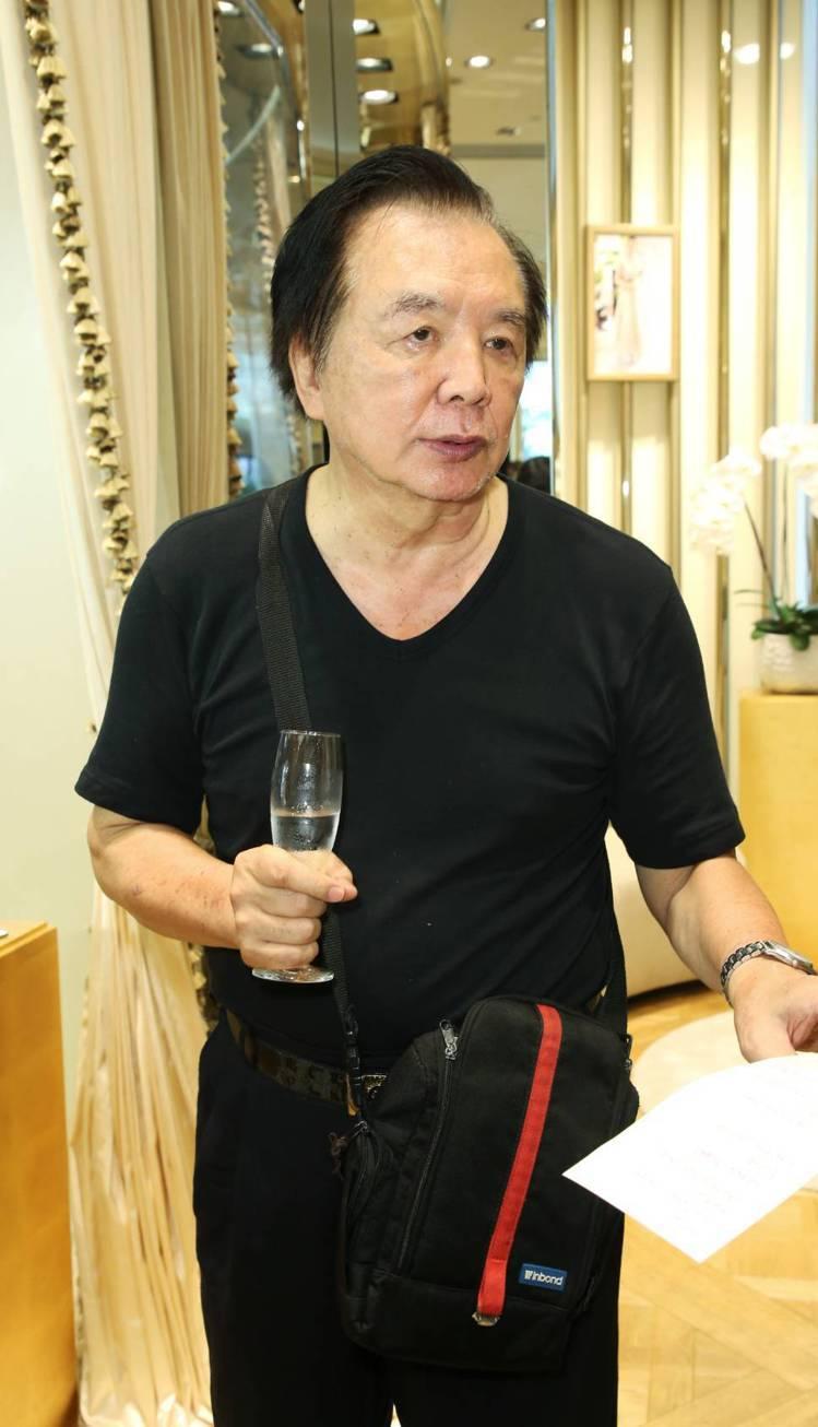 林志玲父親林繁男意外現身時尚活動,成為焦點。記者陳立凱/攝影