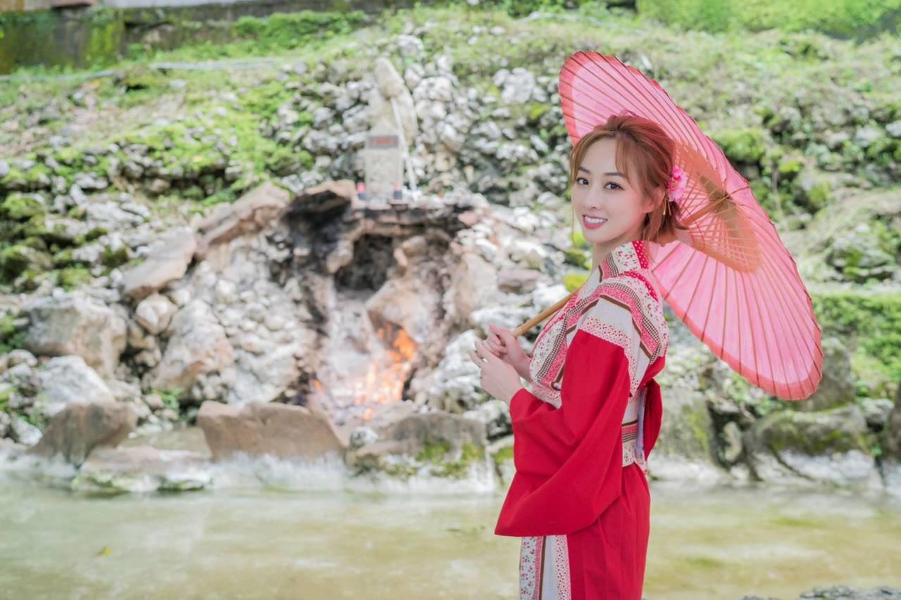 藝人夏語心今年擔任關子嶺溫泉美食節形象代言人。圖/台南市政府觀光旅遊局提供