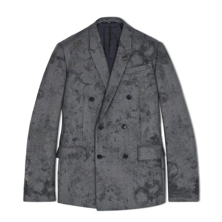 Berluti大理石紋灰色羊毛西裝外套11萬8,000元。圖/Berluti提供