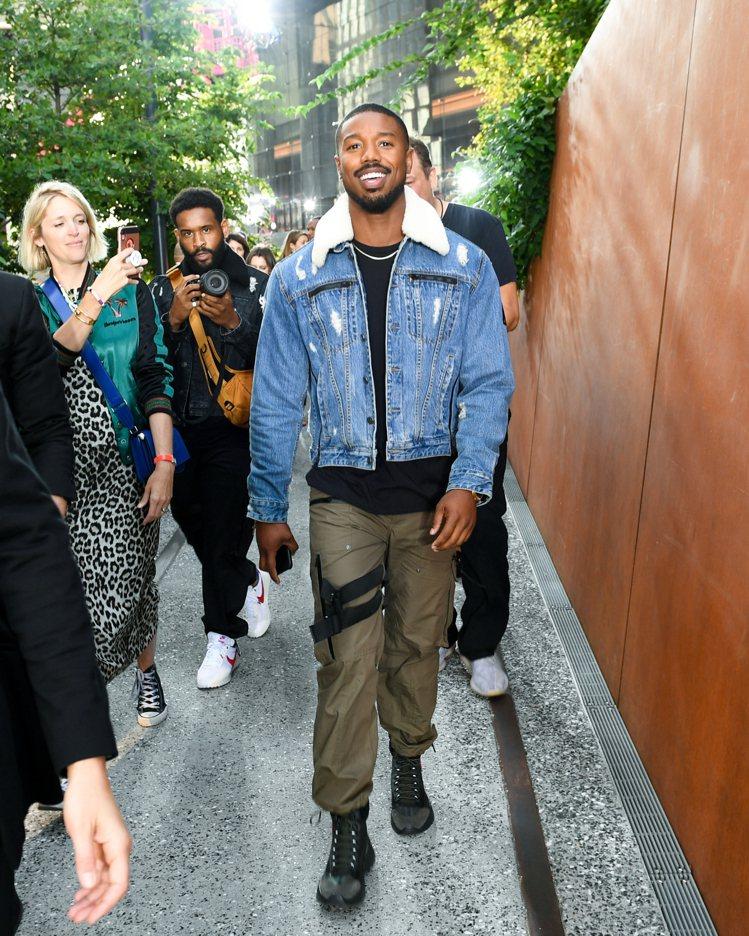 品牌全球男性代言人Michael B. Jordan出席紐約大秀。圖/COACH...