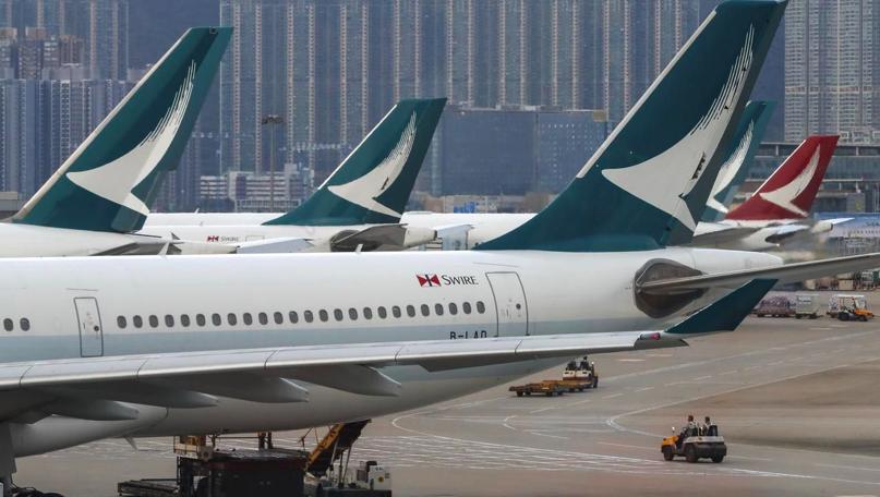 國泰航空8月份載客較去年跌11.3%。(星島網)