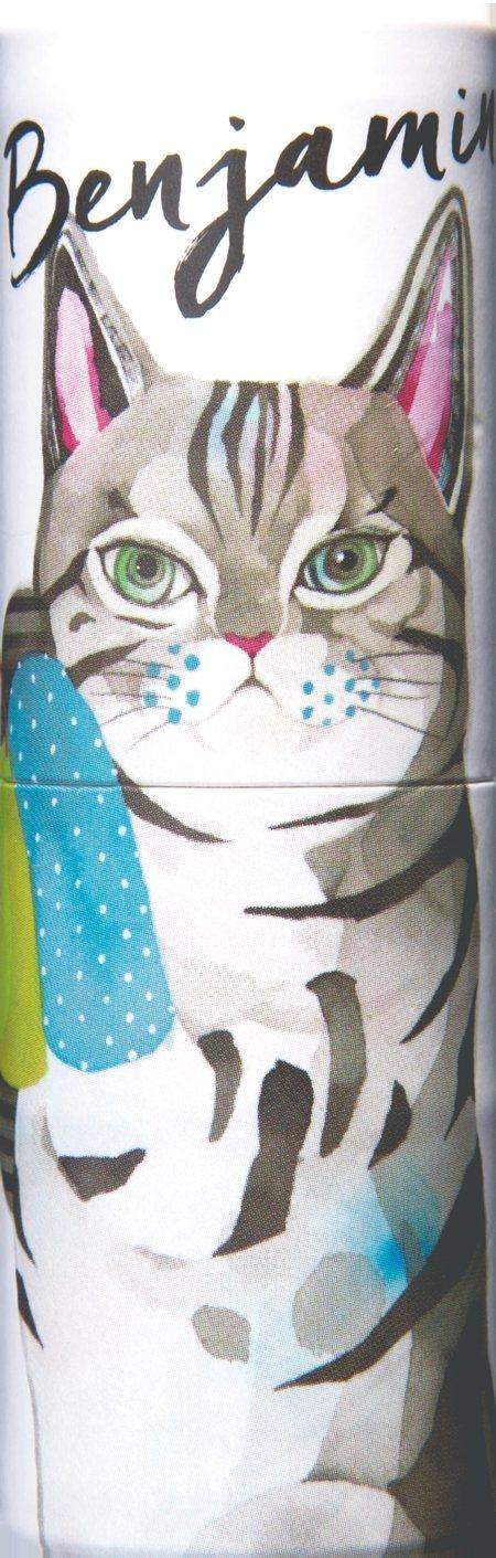 Vasilisa隨身香氛膏-貓咪斑傑明,代表香氣為梨子與茉莉花堆疊出的大人感花果...