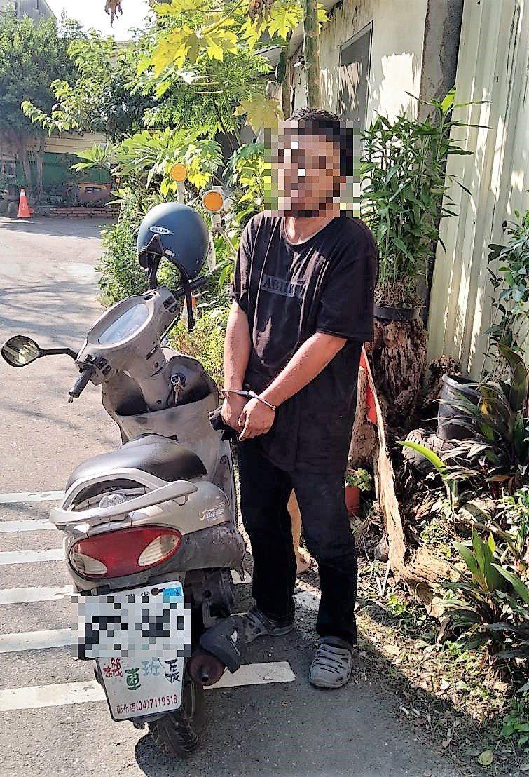42歲蔡嫌竊取他人機車在路上閒晃,被眼尖員警發現直接遭逮。記者凌筠婷/翻攝