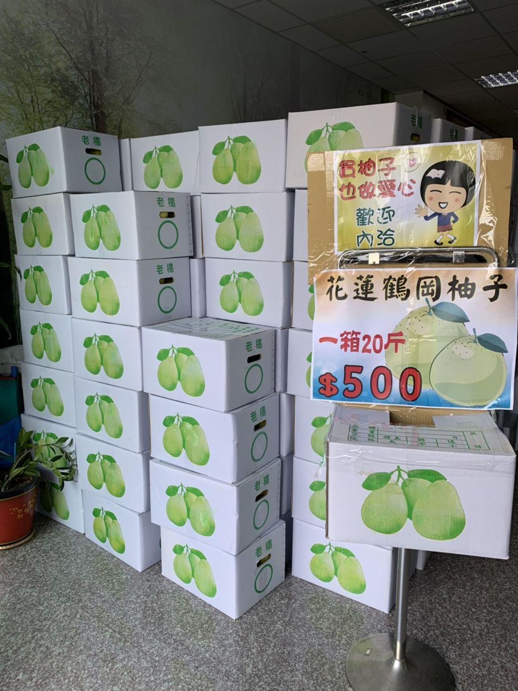 北台中家扶中心今年上半年捐款比去年同期短少120萬元,因此義賣100箱柚子,每箱...