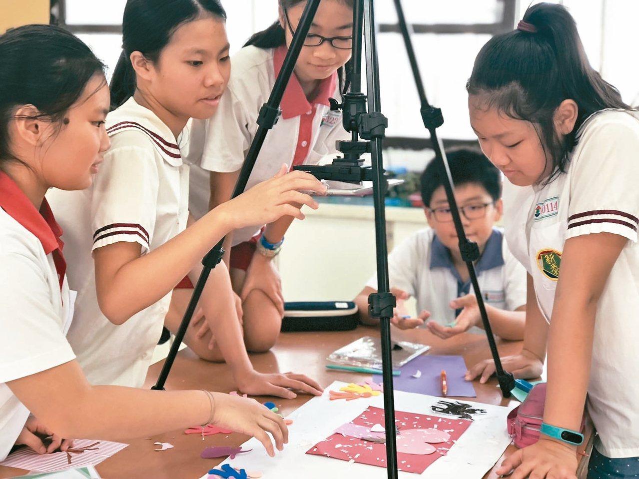 獲新北教學卓越團隊的新泰國小,結合布袋戲和動畫,帶學生認識新莊。 圖/新泰國小提...