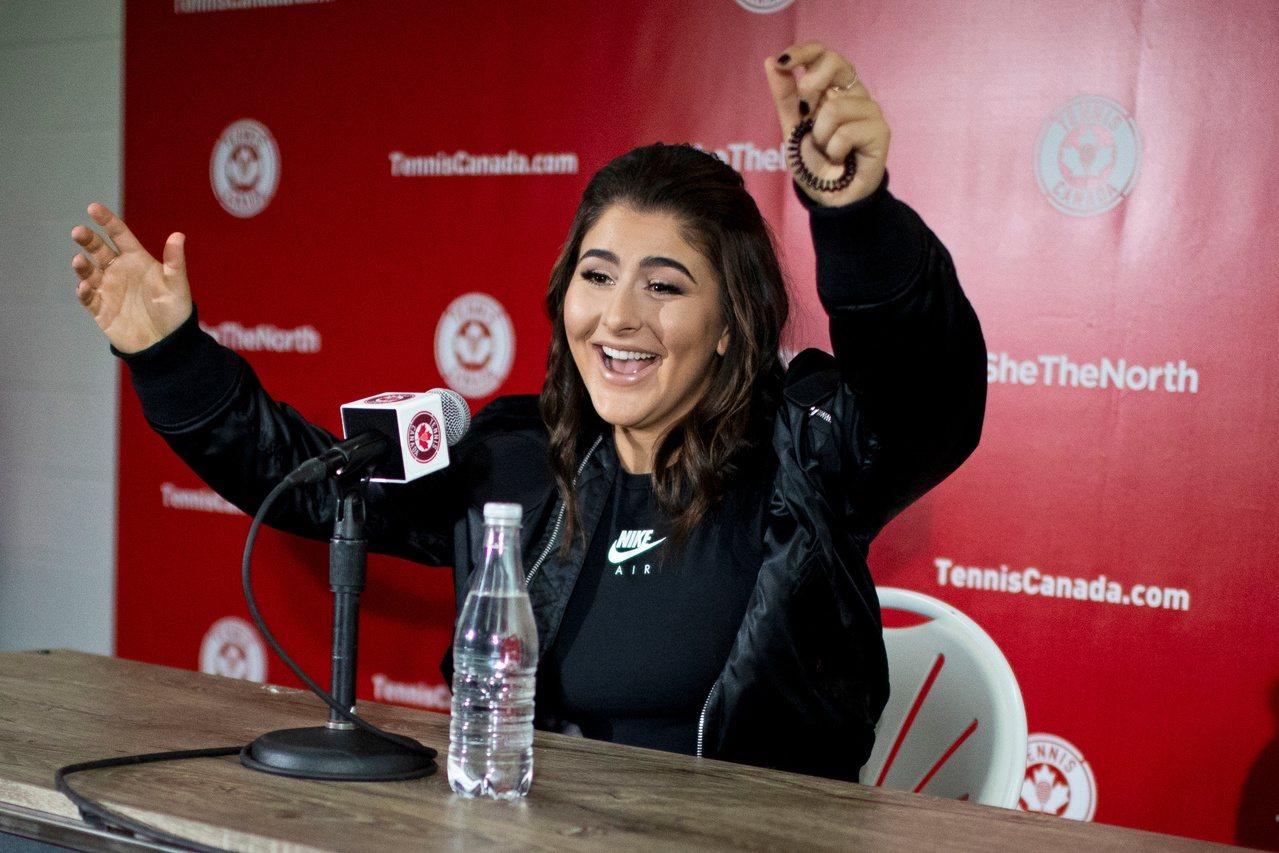 美網女單冠軍19歲的加拿大新星安德里斯庫。 路透
