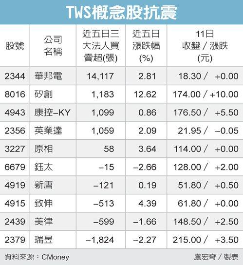 TWS概念股抗震 圖/經濟日報提供