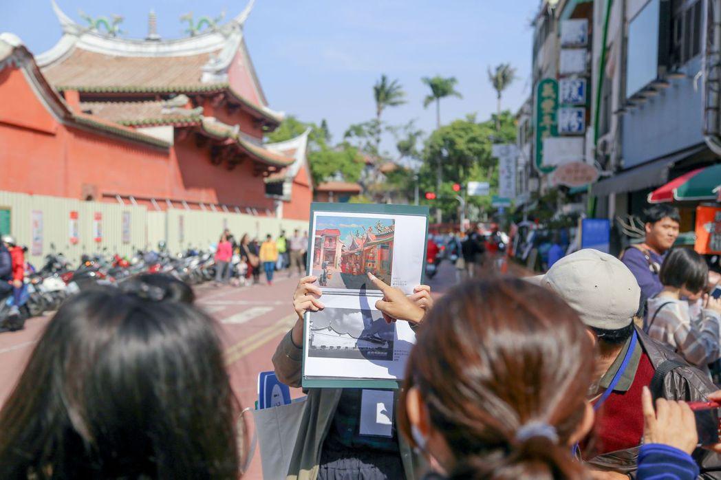 「藝術漫遊」活動將由導覽老師帶領民眾至畫中景點實地走訪。  南美館 提供