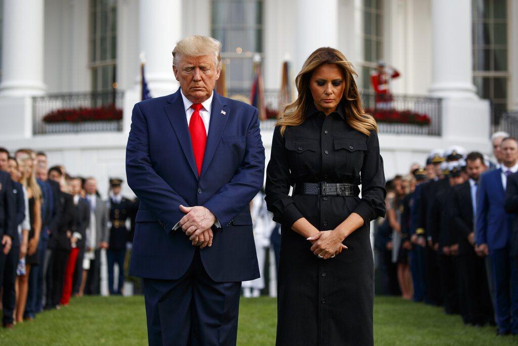 美國總統川普及夫人。美聯社