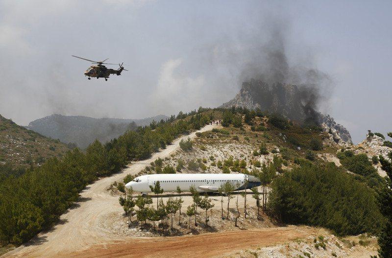 基里尼亞(Kyrenia)東部軍事陣地發生爆炸之際,該地區已被封鎖。 圖/歐新社