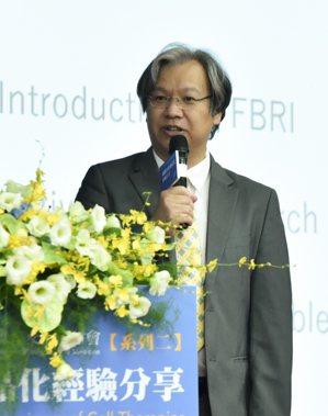 DCB生藥所副所長黃國珍為此次研討會引言人。 黃啟銘/攝影。