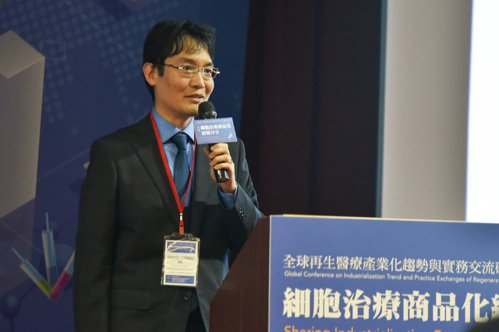 San Bio公司金子健彥博士。 黃啟銘/攝影。