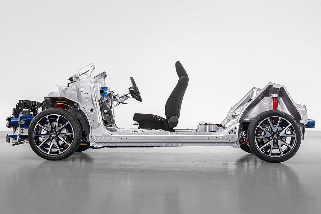 Toyota提到新TNGA-B(GA-B)模組化底盤平台,駕駛坐姿更低也往車體中...