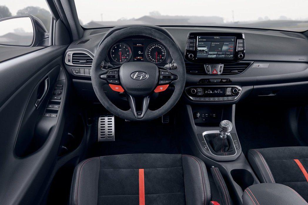Hyundai i30 N Project C 內裝。 摘自Hyundai